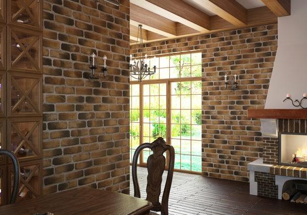 Гипсовая плитка может заменять стандартную отделку дверных и оконных порталов наличниками