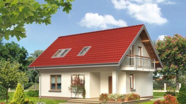 Жилой дом с мансардой размером 10 на 8 м позволяет комфортно разместиться семье из 4-5 человек