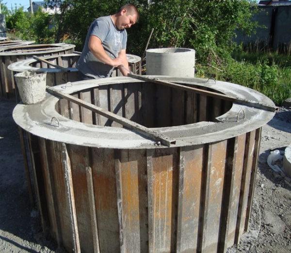 Изготавливать бетонные кольца на открытом воздухе (без навеса) не рекомендуется