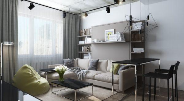 Квартира - студия с одним окном