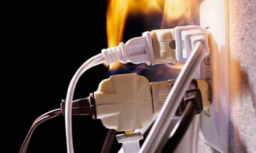Короткое замыкание приводит к пожару