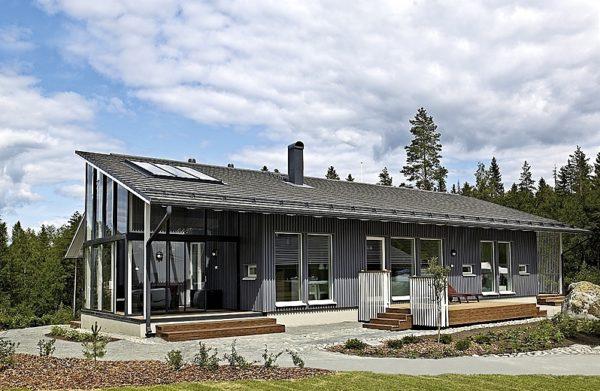 Коттедж, построенный по финской технологии
