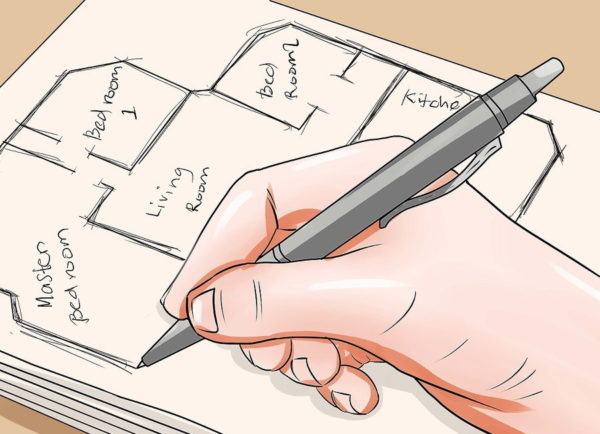 Нарисуйте от руки примерный план