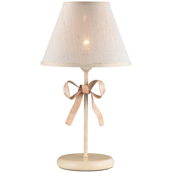 Настольная лампа с абажуром из ткани
