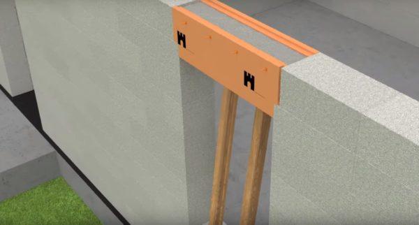 Полость заливается бетоном
