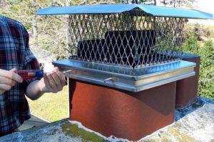 Предохраняет дымоход от попадания дождя и снега, не допускает механических загрязнений и гнездование птиц