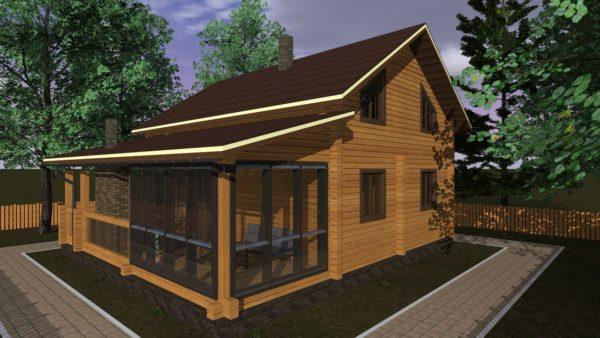 Проект дома размером 8х10 кв.м