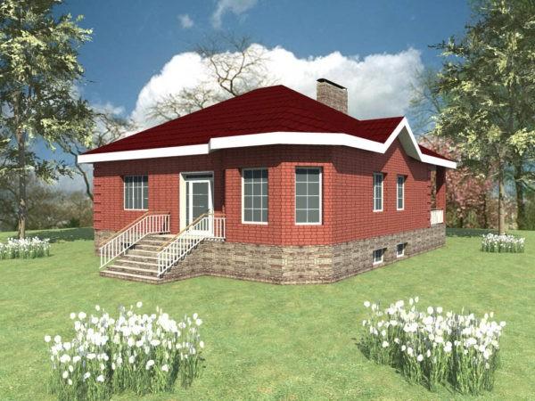 Проект одноэтажного дома с цокольным этажом
