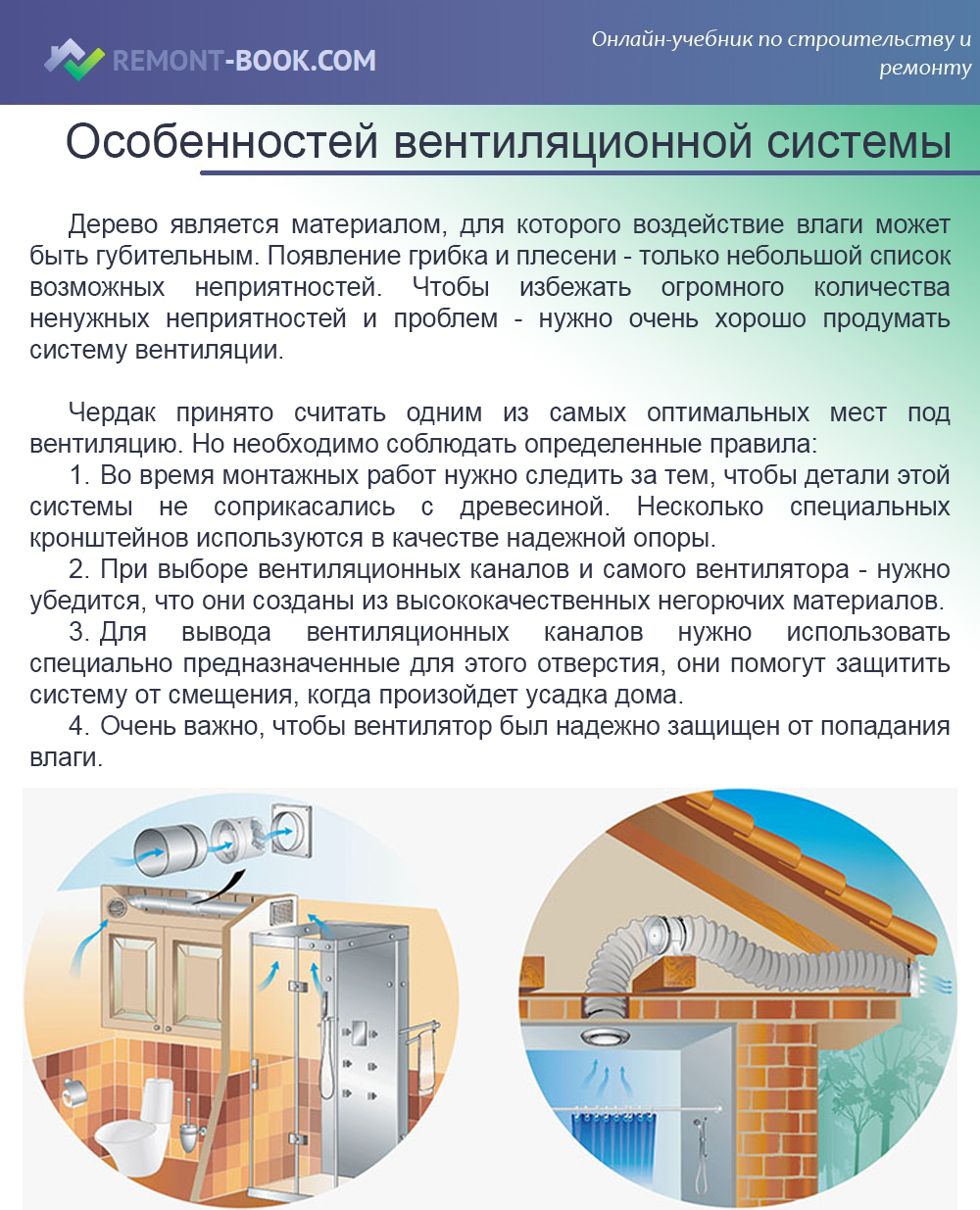 Особенностей вентиляционной системы