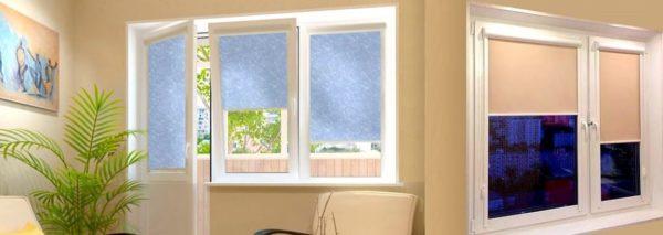 Рулонные шторы подходят и для окон, и для дверей