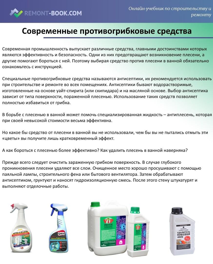 Современные противогрибковые средства