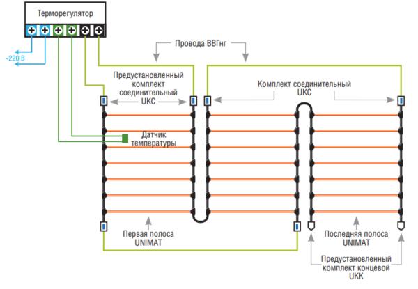 Схема подключения матов