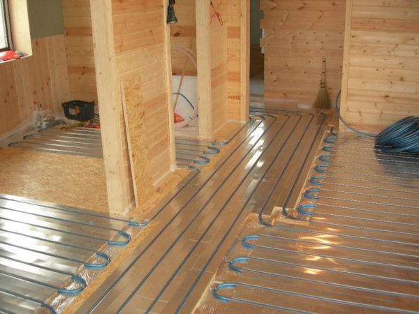Теплый пол на деревянные перекрытия