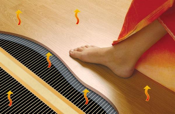 Тёплый пол под ламинат