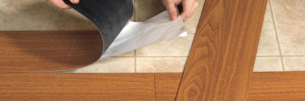 Укладка ПВХ плитки с самоклеящимся основанием