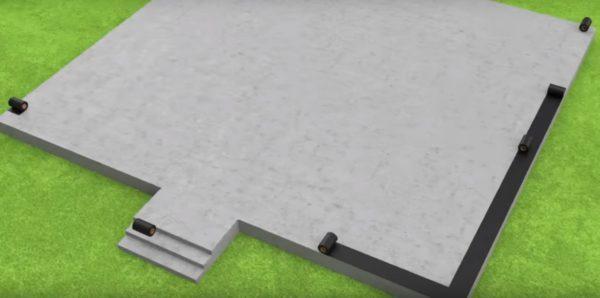 Укладка отсечной гидроизоляции