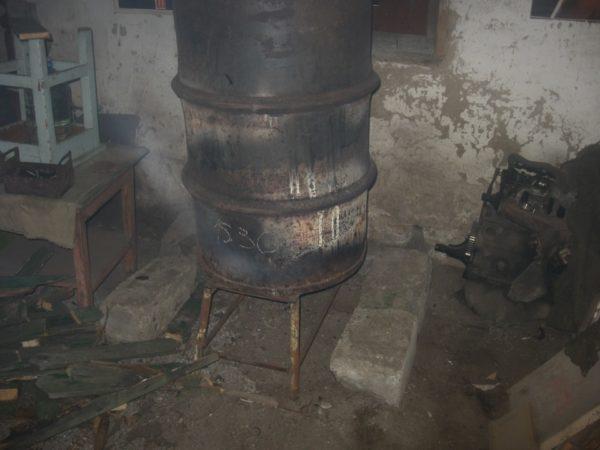 Фото готовой печи для гаража