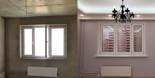Фото до и после ремонта