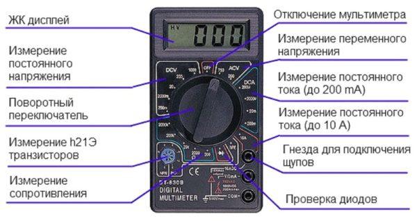 Цифровой тестер, мультиметр