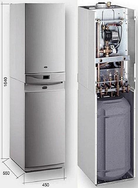 Газовый котел «Baxi Luna-3 Comb»с бойлером косвенного нагрева – модель собрана на базе типового настенного агрегата.