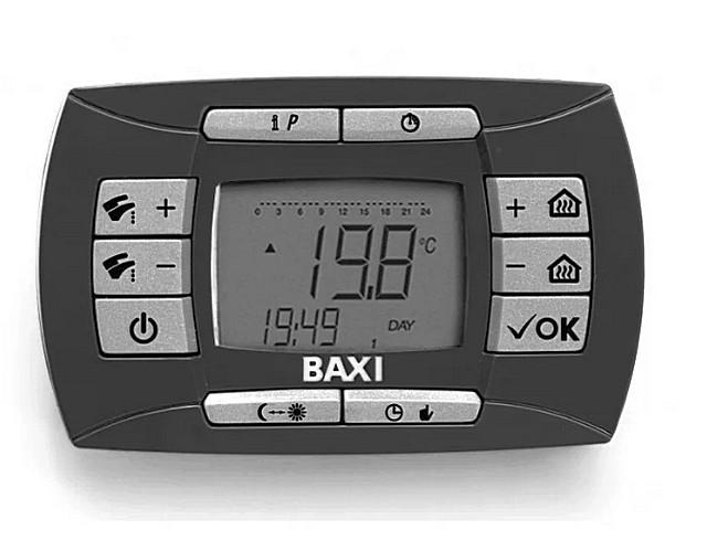 Цифровой дисплей и кнопочная панель управления двухконтурного котла BAXI