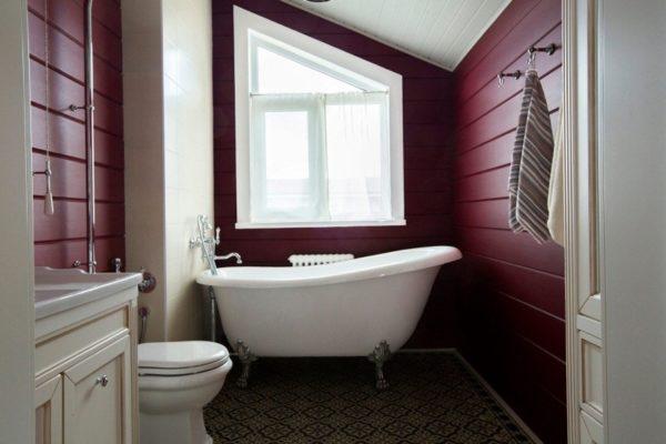 Краска на стенах благородного бордового оттенка