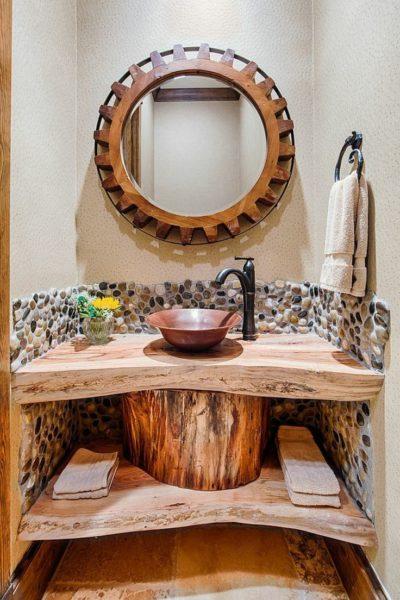 Оформление ванной в эко стиле