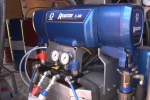 Шаг 2 – подсоединения компрессора к бочкам с веществами