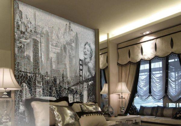 Полотно с изображением, похожим на фреску