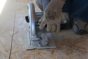 Шаг 6 – нарезка опорных плит
