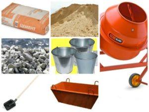 Все необходимое для работы с бетоном