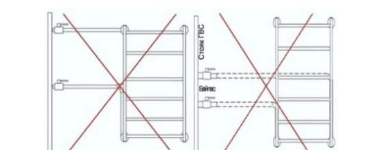 Неправильный боковой или нижний монтаж приводит к тому, что вода перестает двигаться по конструкции