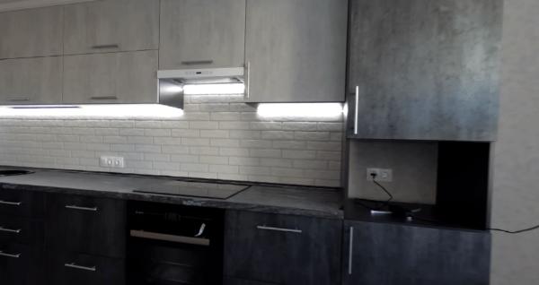 Использование подсветки в рабочей зоне кухни