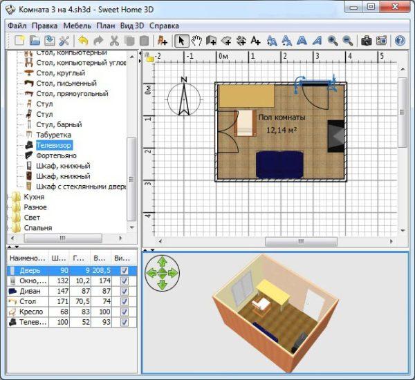 При разработке дизайна используют специальные программы для визуализации результата