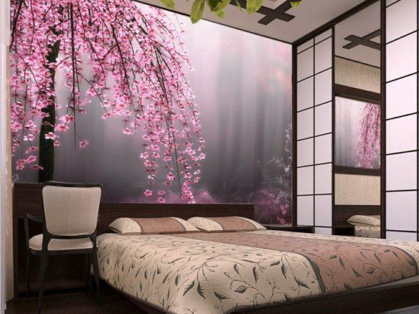 Созерцать прекрасное можно и любуясь сюжетом на натяжной стене