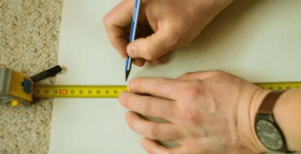 Измеряем требуемый размер