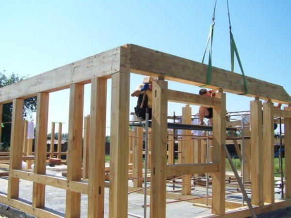 Строящийся каркасный дом
