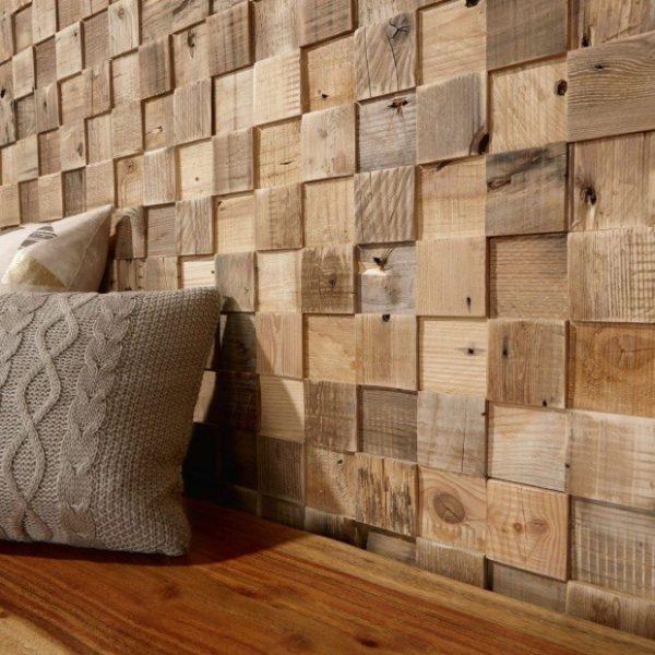 Деревянный 3D дизайн стены