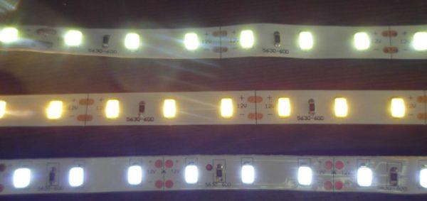 3 разные цветовые температуры светового потока