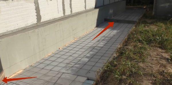 Установка перегородок под деформационные швы