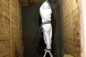 Шаг 4 – монтаж минваты на потолок