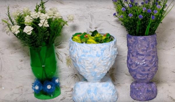 Варианты декорирования вазочек