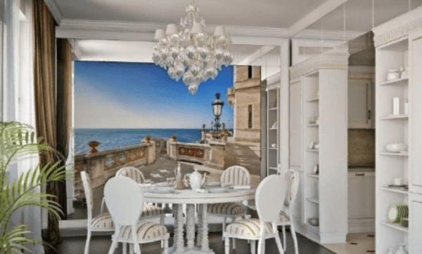 Уютная кухня в средиземноморском стиле