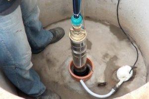 Шаг 2 – установка глубинного насоса