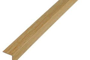 Наружный пластиковый уголок с древесным рисунком