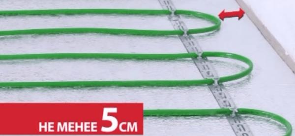 Расстояние от кабеля до стен