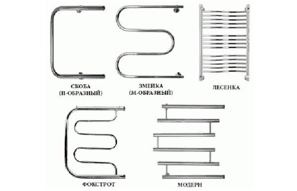 Различные конфигурации сушилок для полотенец