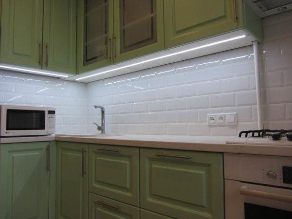 Led подсветка рабочей зоны кухни