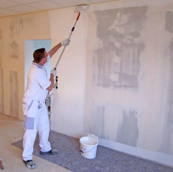 Процесс обработки стен