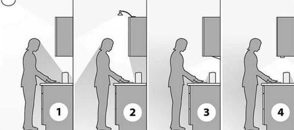 Как сделать лампочку на кухне